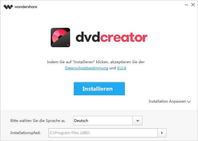 Wondershare DVD Creator installieren