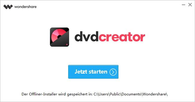 wondershare dvd creator starten