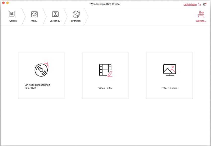 DVD Creator für Mac Toolbox