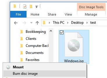 Insert a blank disc in the drive