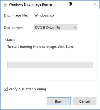 Check the box which says Verify disc