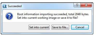 Load the Boot Information from the Driver or Image File
