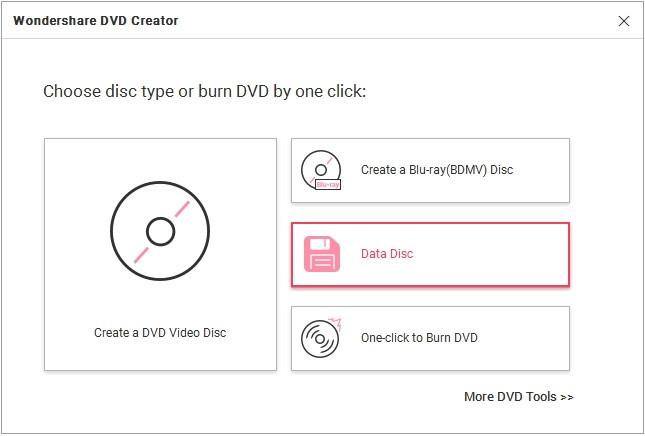 Launch the Wondershare DVD Creator