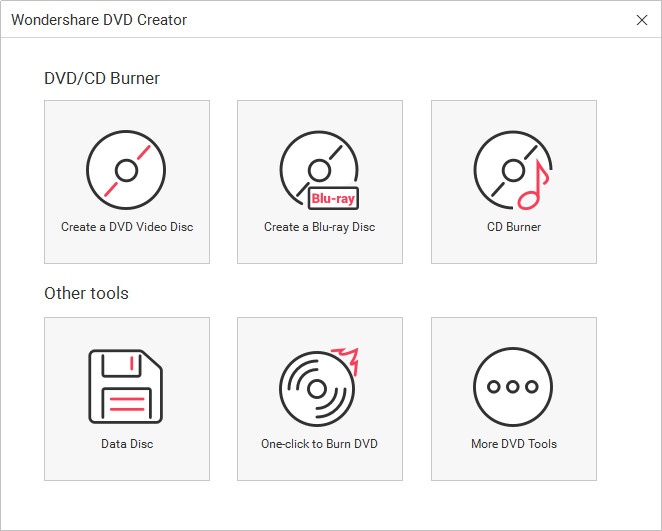 Burn Files to CD on Windows 8 - Start Wondershare DVD Creator