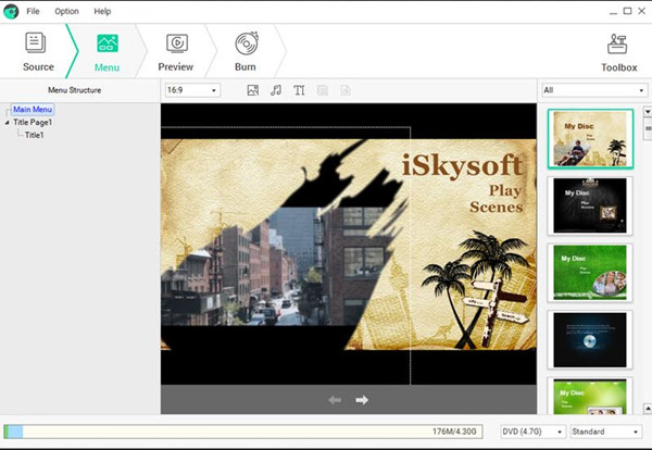 Best CD Burner for PC - iSkysoft DVD Creator for Windows