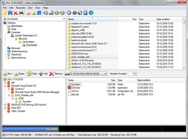 Best CD Burner for PC - CDBurnerXP