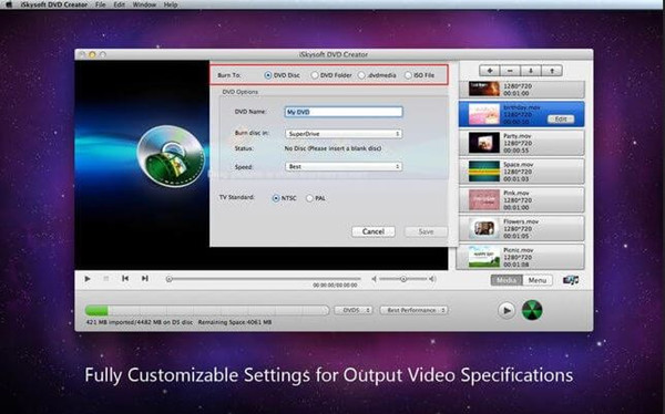 Best CD Burner Programs in 2018 - iSkysoft DVD Creator for Mac