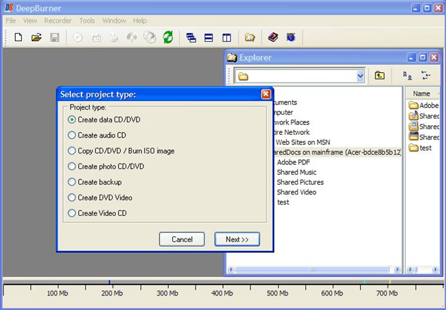 Best CD Writer Software for Windows 7 - DeepBurner