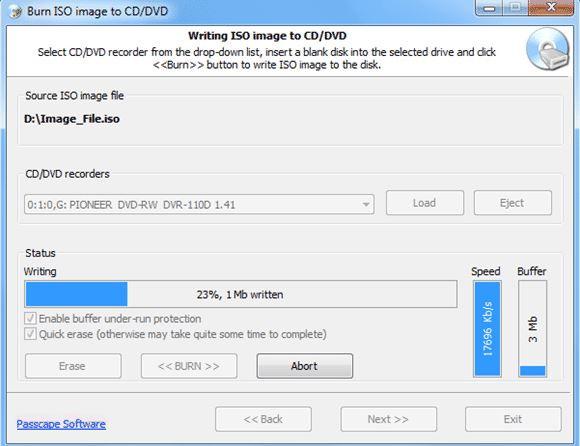 Best ISO CD Burners - Passcape ISO Burner