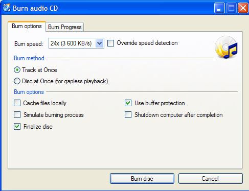 Best Open-Source CD Burner - CDBurnerXP