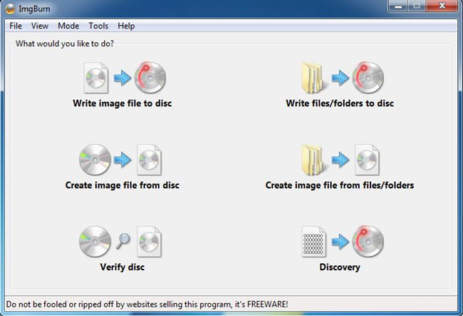 Best Virtual CD Burner Programs - ImgBurn