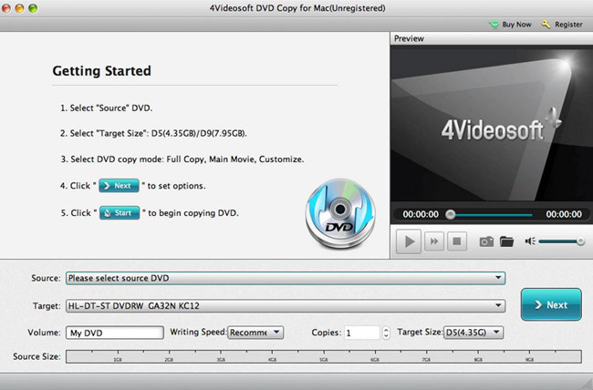 Best Virtual CD Burner Programs - 4Videosoft DVD Copy for Mac