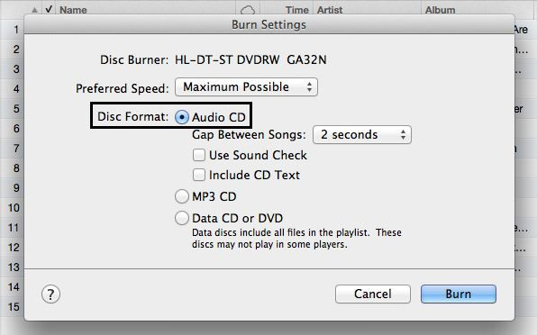 Best Virtual CD Burner Programs - Burning Settings