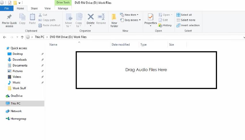 Burn Files to CD on Windows 8 - Add Audio Files