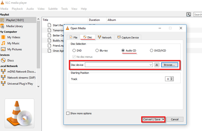 Burn Files to CD on Windows 8 - Start Burning Audio to CD