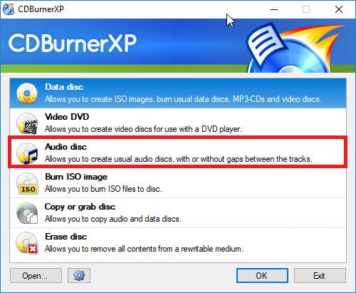 How to Burn Music on Mac - Launch CDBurnerXP