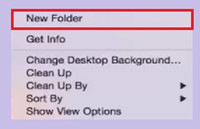 How to Burn Pictures to CD - Create a New Folder