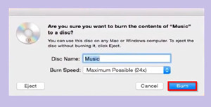 How to Burn Songs to CD - Start Burning