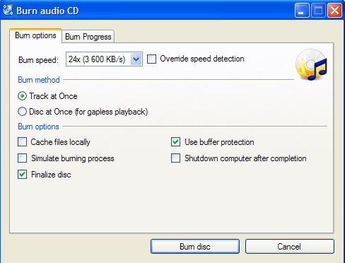 Best CD ROM Burner for PC - CDBurnerXP