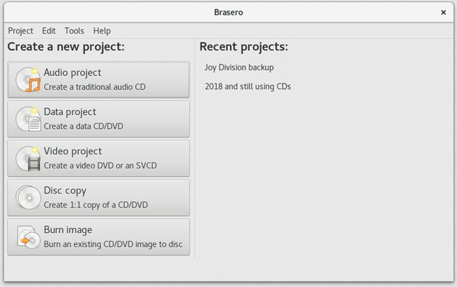 Best DVD & CD Burning Software - Brasero