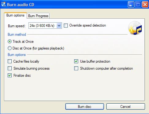 Fast CD Burner - CDBurnerXP