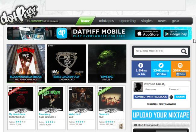 Free Music Sites to Burn CD - DatPiff