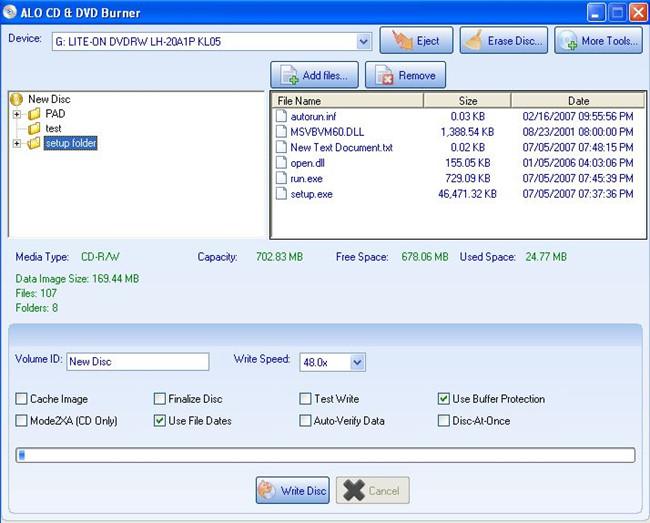 High Quality CD Burner - ALO CD & DVD Burner
