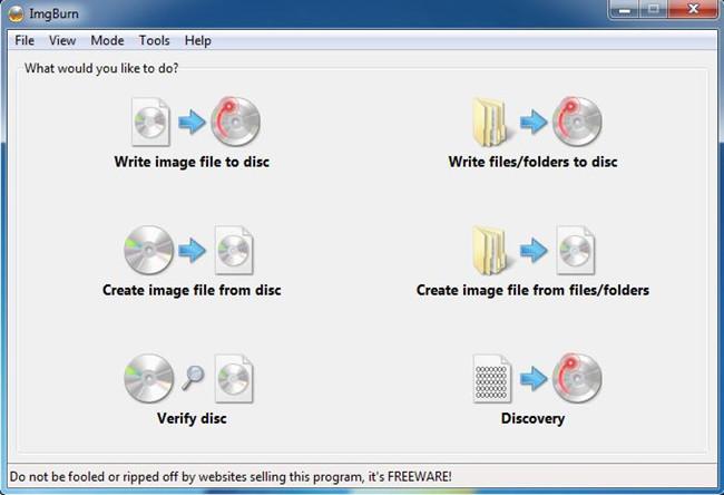 Most Helpful Free CD Burner - ImgBurn