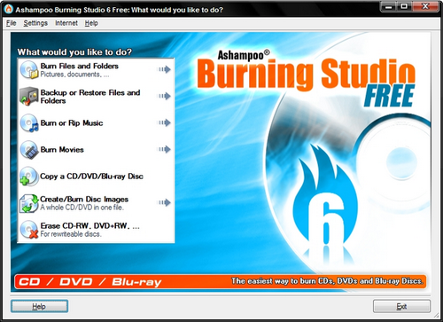 Other 3 MP4 to Blu-ray Software Introduction- Ashampoo Burning Studio Free