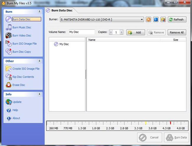 Use the Simple CD Burner to Burn CD - Burn  My Files