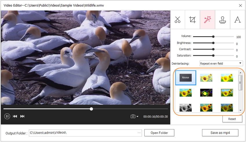 add video filter