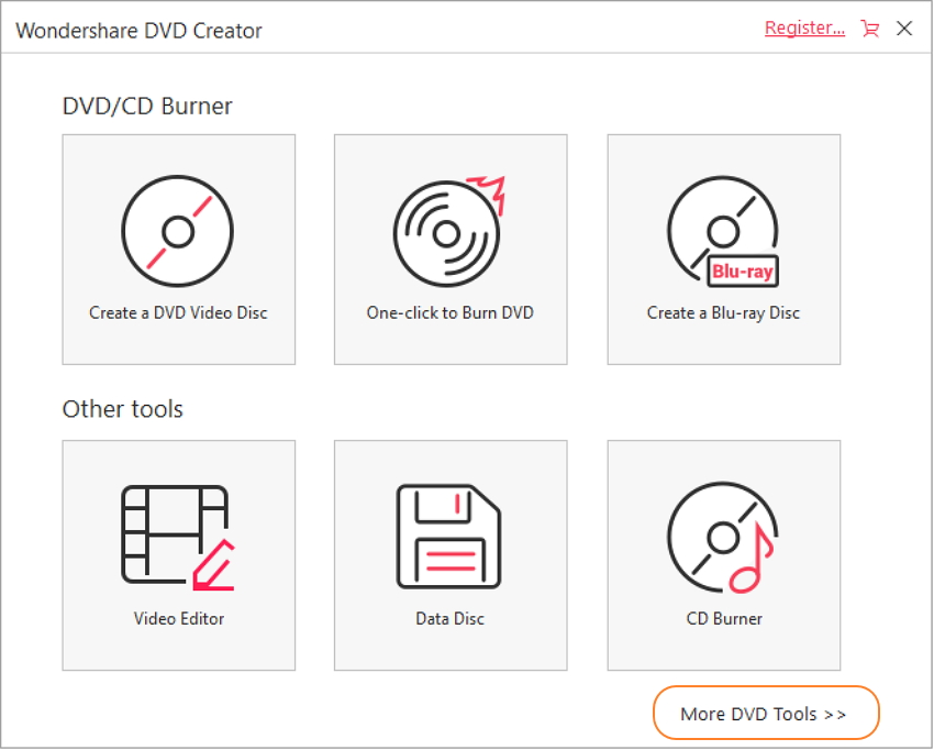 Choose more DVD tools