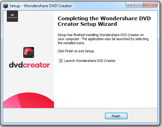 launch wondershare dvd creator