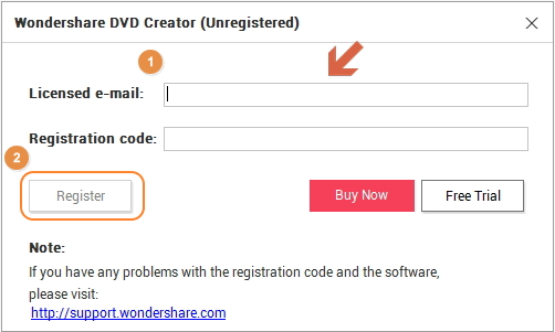 free registration code for wondershare dvd creator for mac