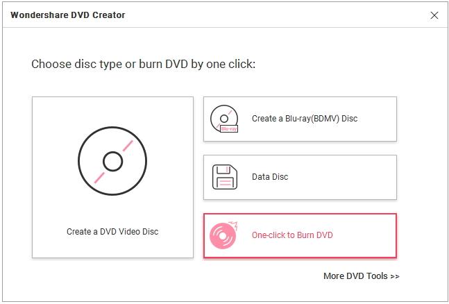 un clic para grabar dvd