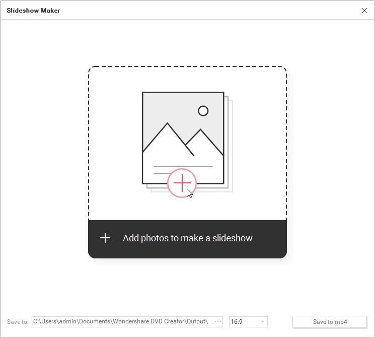 add photos to slideshow creator
