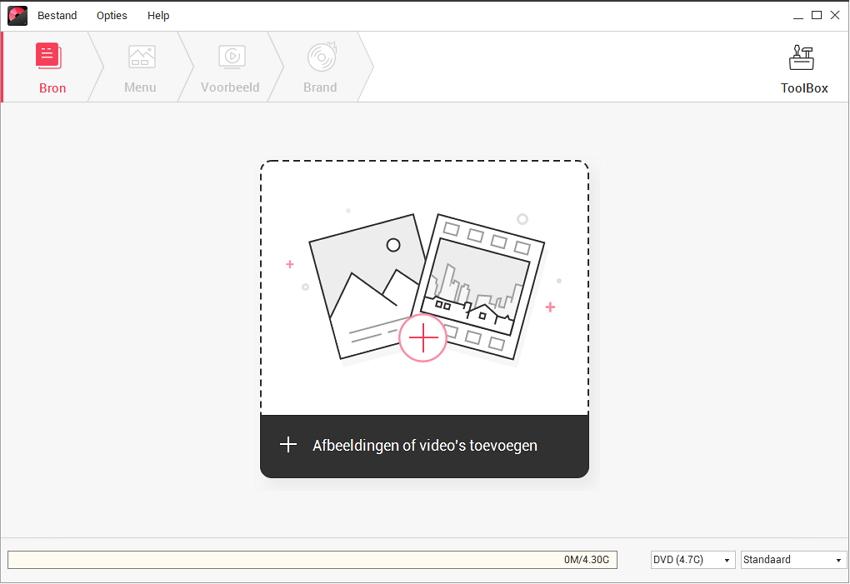 voeg video/foto's toe aan DVD Creator Mac