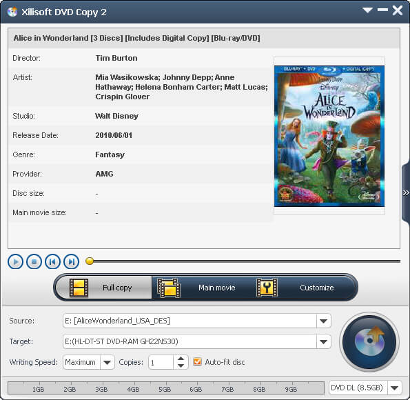 Xilisoft DVD copy software