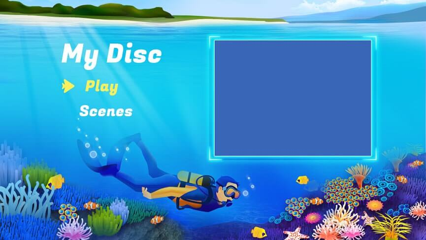 Travel DVD menu