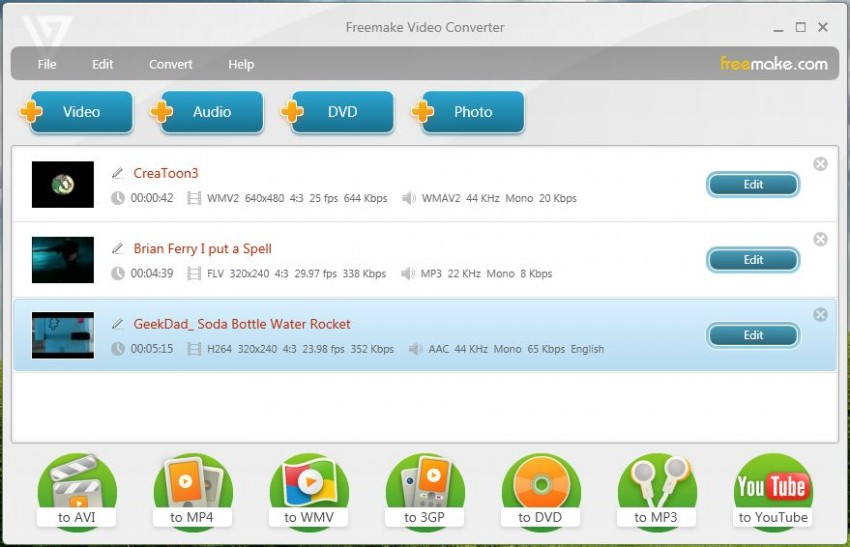 Grabar MP4 a DVD con Freemake Video Converter