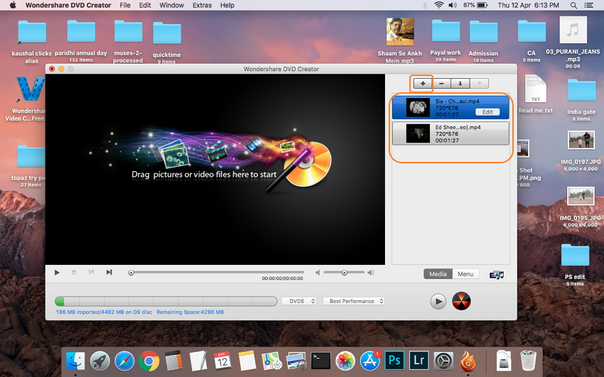 Load MP4 videos to the MP4 to DVD video converter