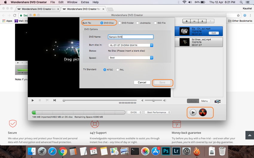 make DVD from MP4