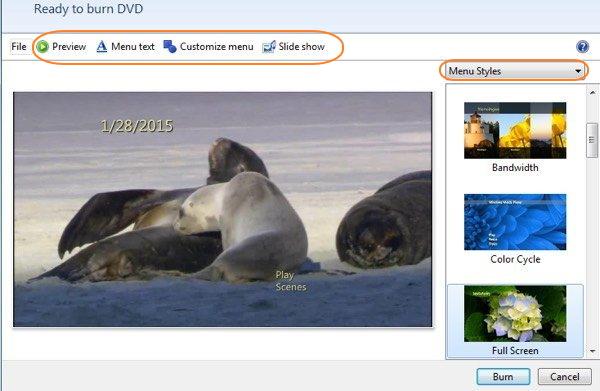 DVD de pré-visualização