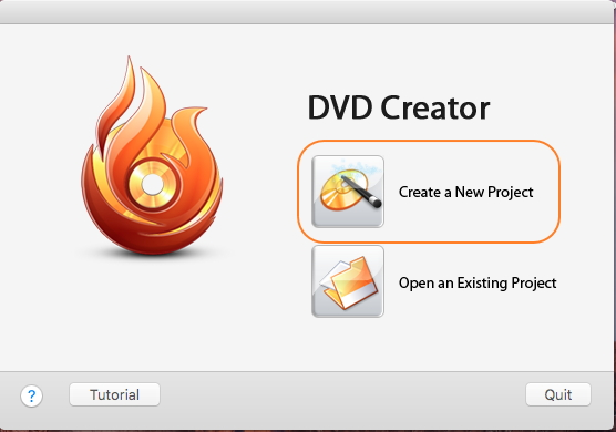 Open Wondershare AVI to DVD software and choose a new project