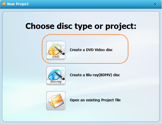 Install and launch free DVD burning software for windows 10 alternative