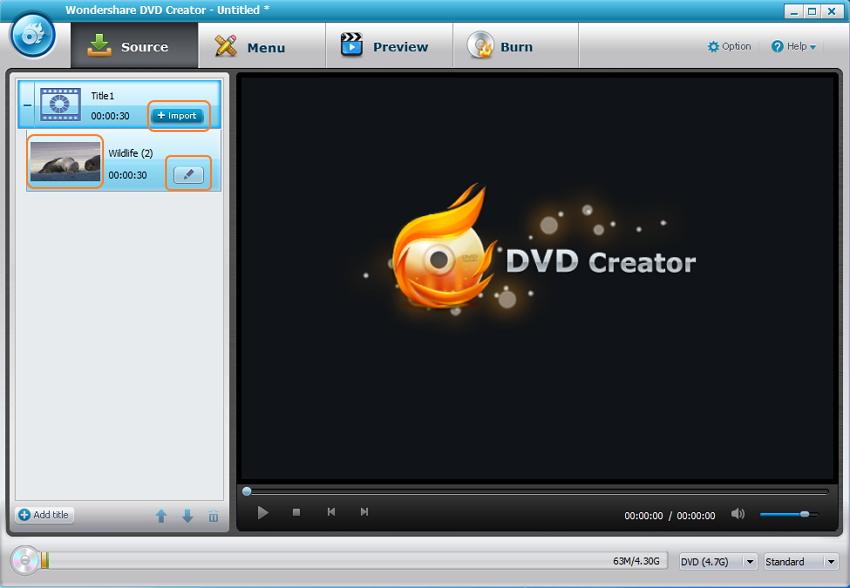 Insert video files to a DVD cloner free alternative