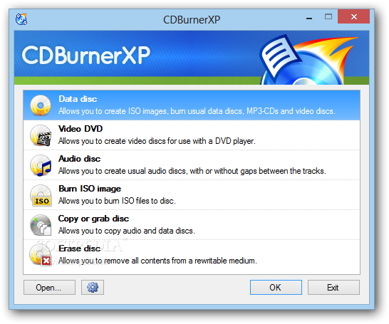 Free DVD burner CDBurner XP