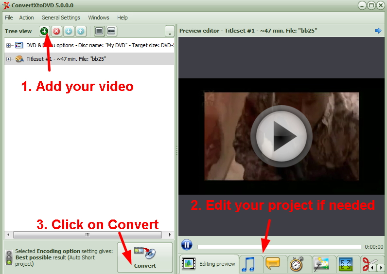 Burn Videos to DVD with ConvertXtoDVD