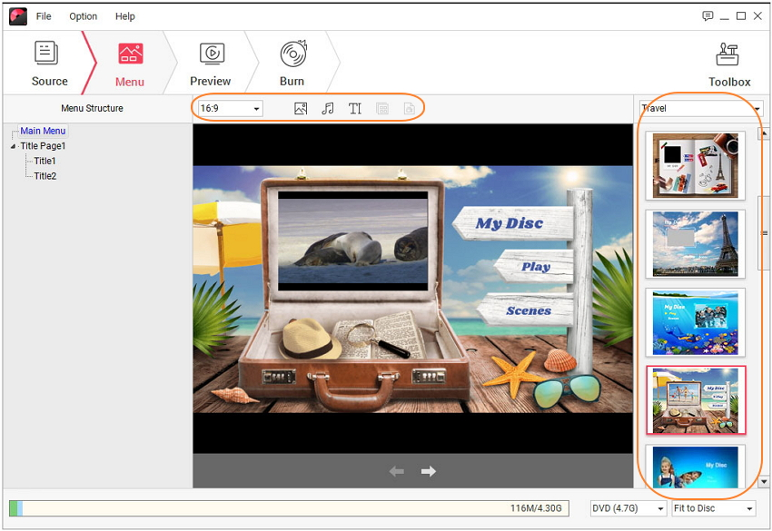 Customize Windows Movie Maker DVD menu