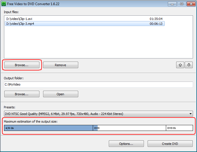 DVDVideoSoft Grátis Video to DVD Converter